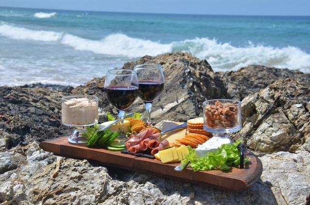 Cheese platter food waves, food drink.