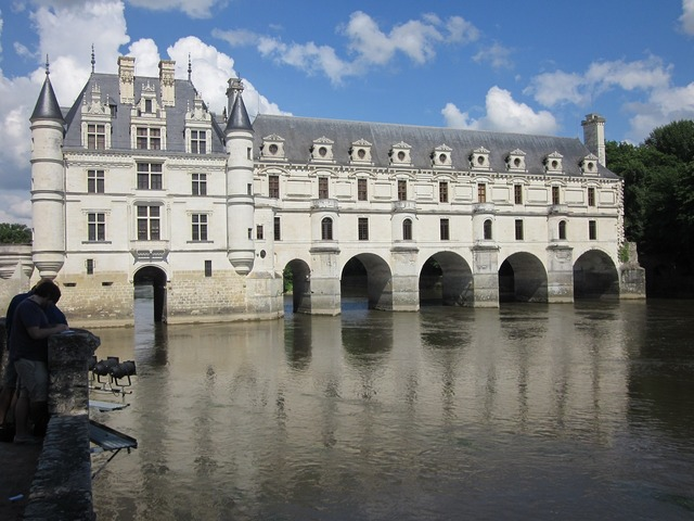 Chenonceau loire chateau, architecture buildings.