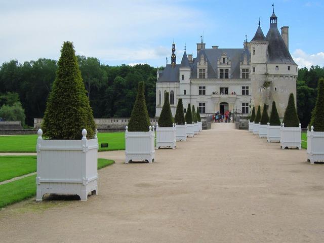 Chenonceau loire chateau, architecture buildings.