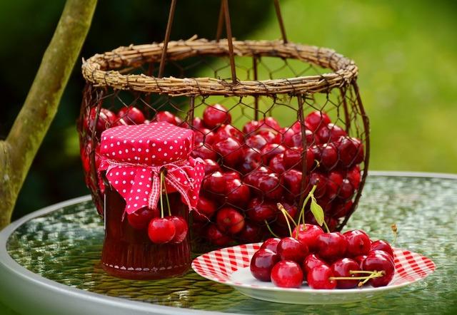 Cherries fruits sweet cherry, food drink.
