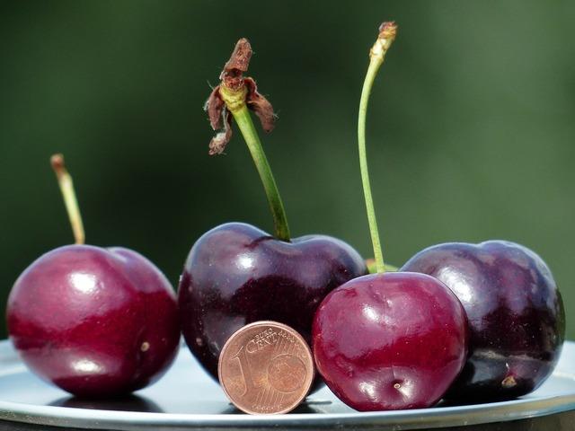 Cherries large huge, food drink.