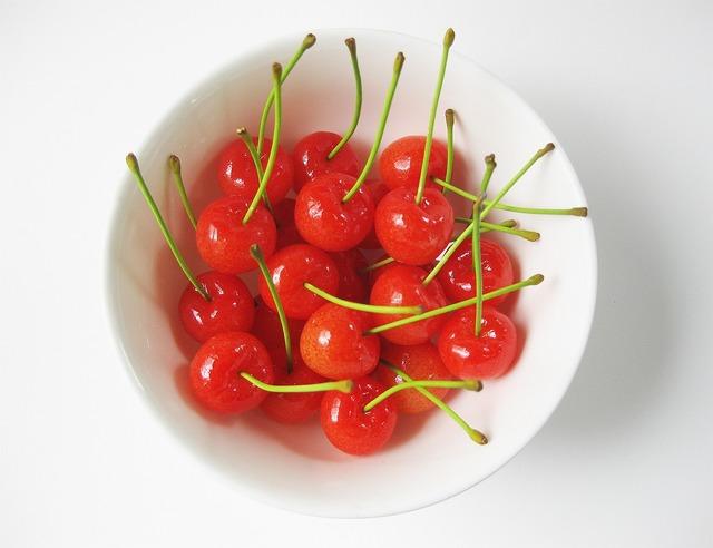 Cherry fruit fresh, food drink.