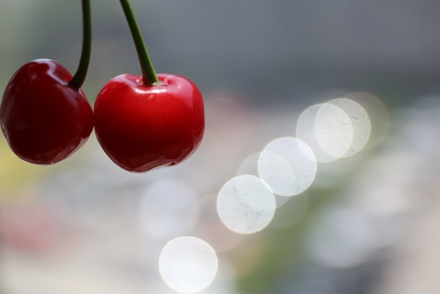 Cherry fruit joy, food drink.