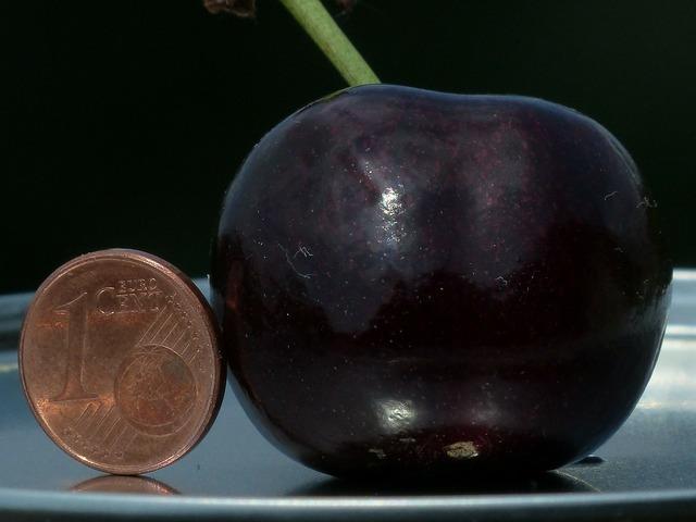 Cherry large huge, food drink.