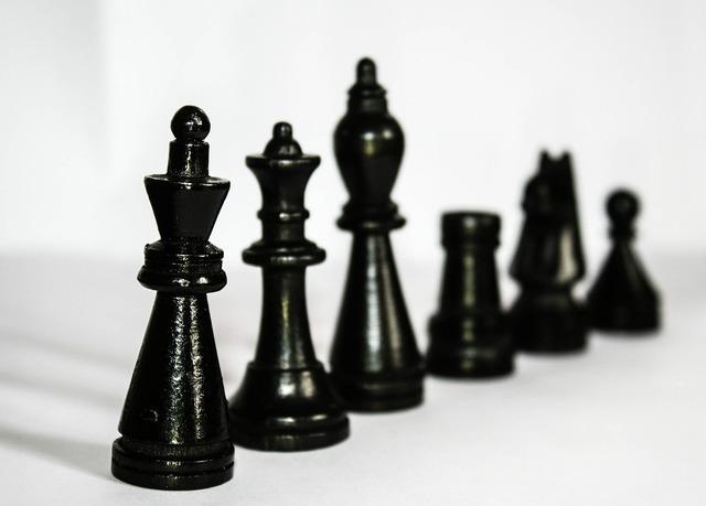 Chess figures black.