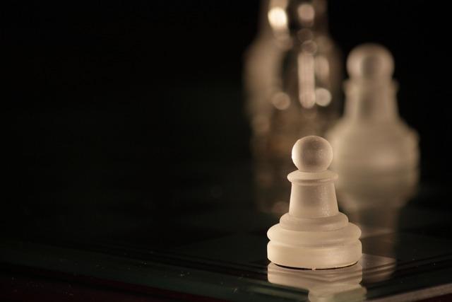 Chess pawn white.