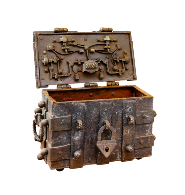 Chest png isolated.