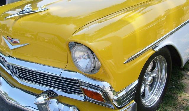 Chevrolet 1956 chevrolet chevy, transportation traffic.