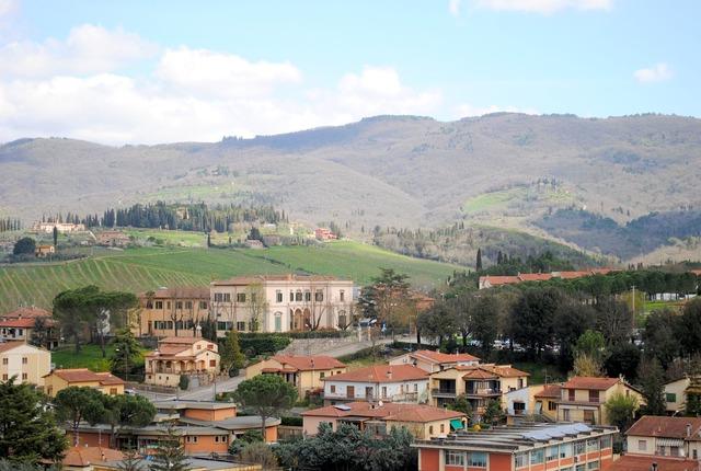 Chianti castellina in chianti italy, nature landscapes.