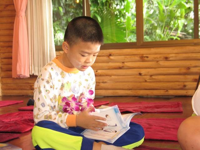 Child boy reading, people.