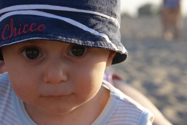 Child portrait hat, people.