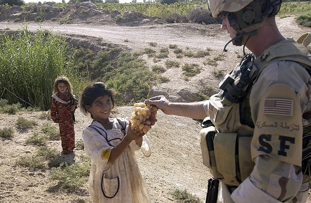 Child soldier gift, people.