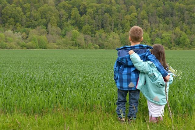 Children love friends, emotions.