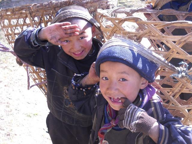 Children nepal sherpa.