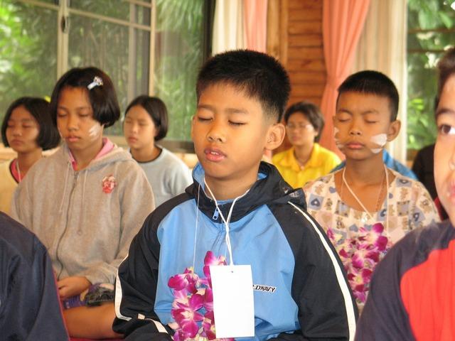 Children school buddhists, education.