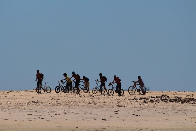 Children south africa bicycles, travel vacation.