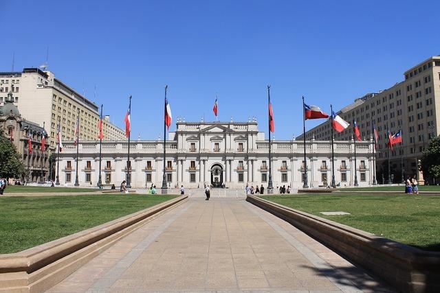 Chile la moneda sunny day.