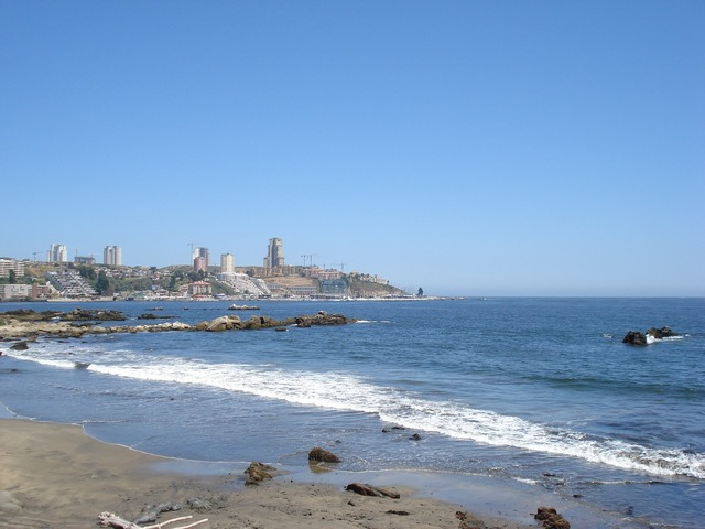 Chile viña del mar beach, travel vacation.