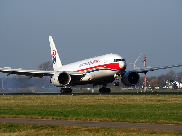 China cargo airlines boeing 777 aircraft, transportation traffic.