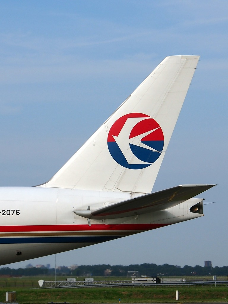 China cargo airlines boeing 777 fin, transportation traffic.