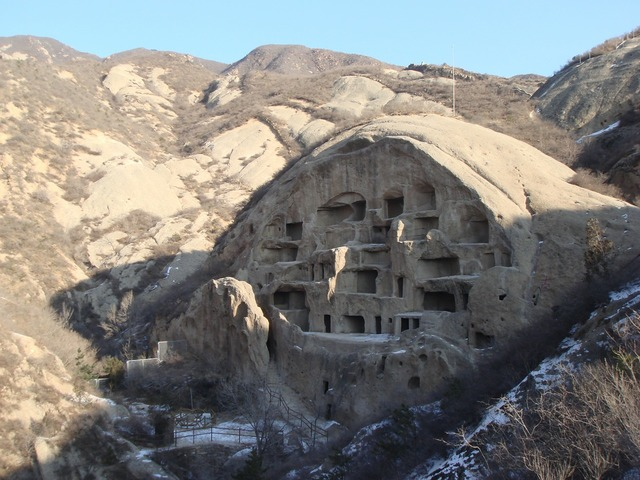 China cave history, places monuments.