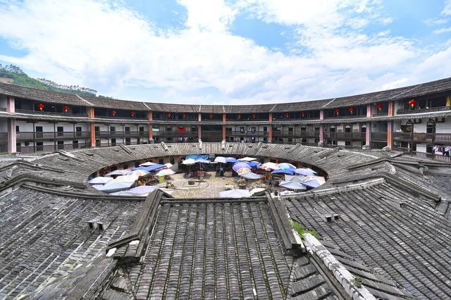 China fujian province soil building, architecture buildings.