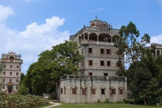 China kaiping building, architecture buildings.