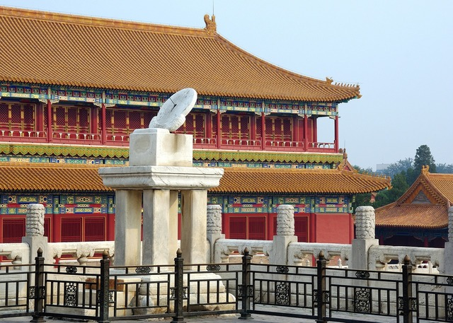 China pekin forbidden city, architecture buildings.