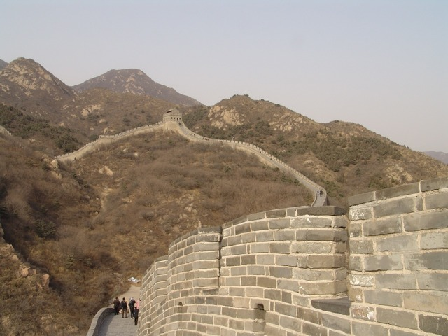 China wall beijing, architecture buildings.