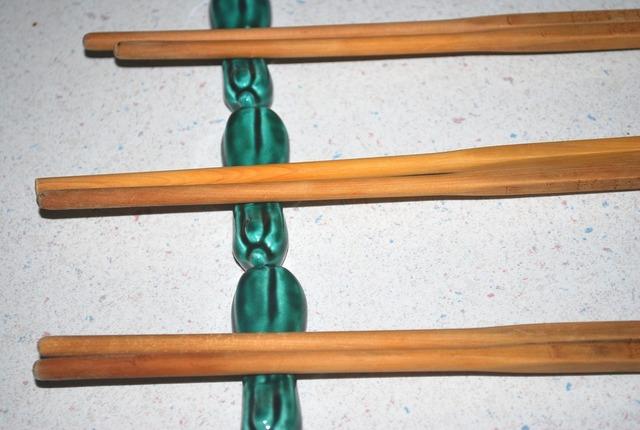 Chopsticks holder utensil.