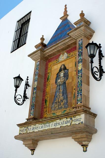 Christ mosaic tiles, religion.