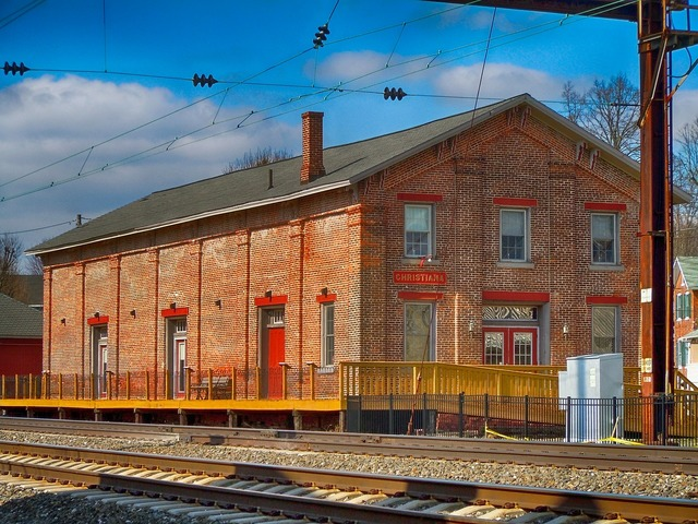 Christiana pennsylvania old train station, architecture buildings.