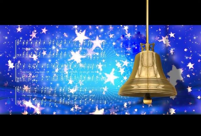 Christmas bell jingle bells, music.