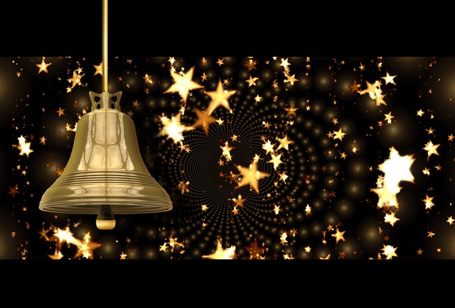 Christmas bell star, music.