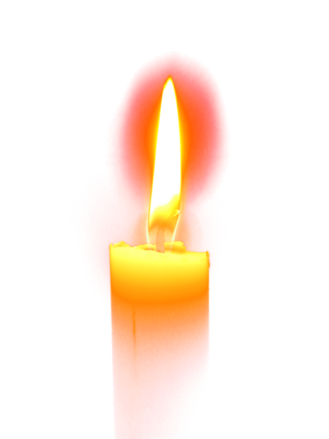 Christmas candle isolated, religion.