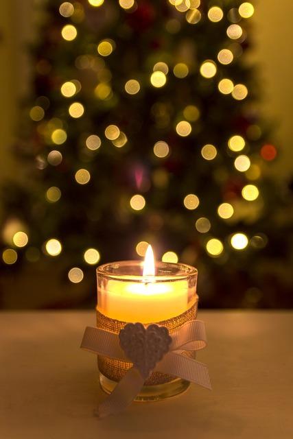 Christmas candle xmas festive.