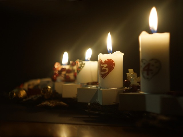 Christmas candles advent.