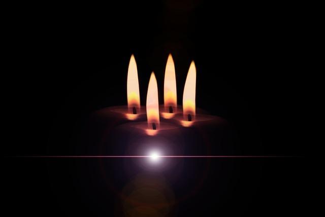 Christmas candles christmas eve.