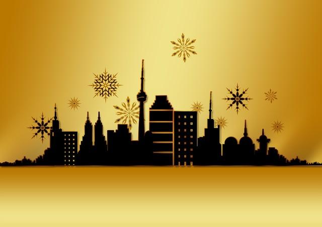 Christmas card greeting card gold.