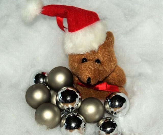 Christmas christmas bear snow.