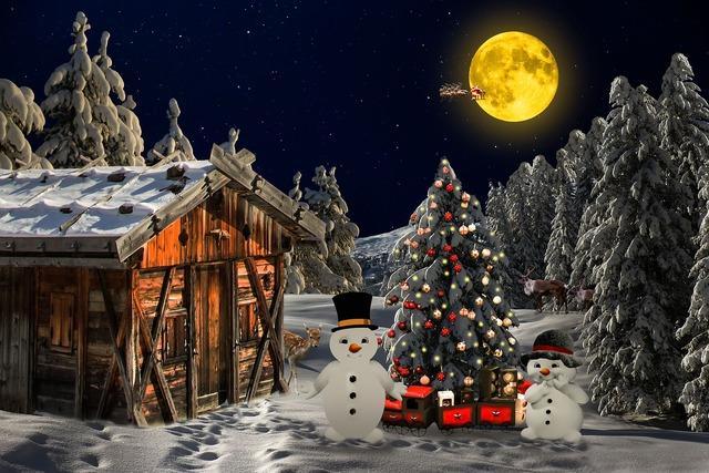 Christmas christmas landscape winter mood, travel vacation.