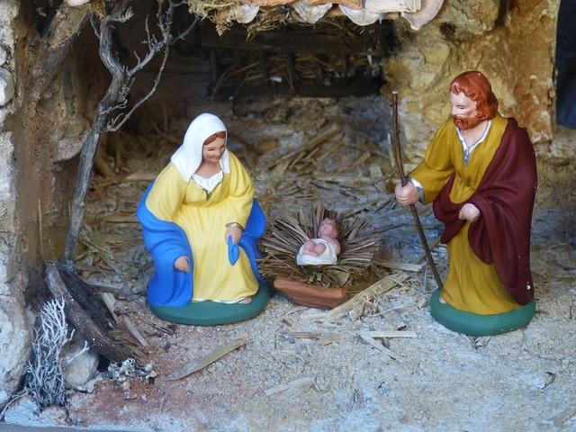 Christmas crib nativity scene, religion.