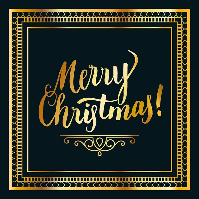 Christmas gold black.