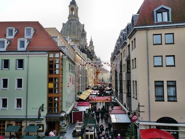 Christmas market frauenkirche dresden, architecture buildings.