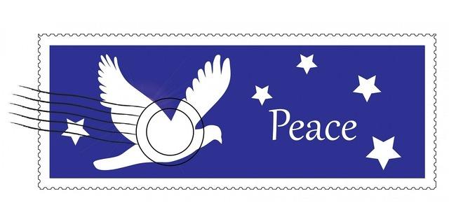 Christmas postage stamp, animals.