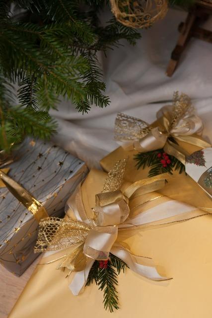 Christmas presents gift wrap.
