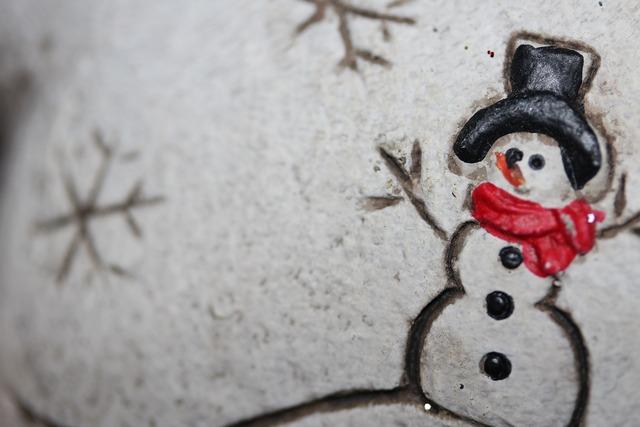 Christmas snow man christmas eve.