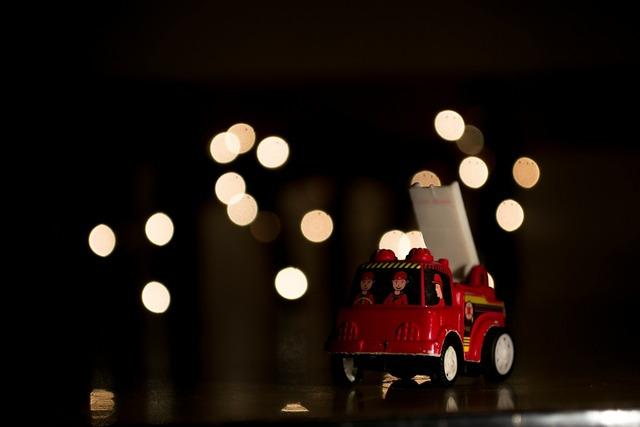 Christmas toys lights, transportation traffic.