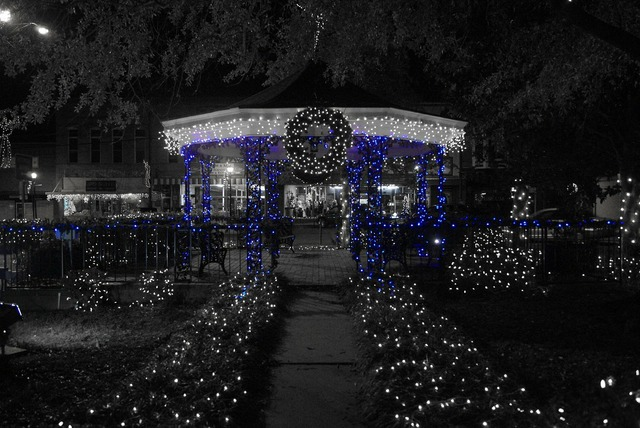Christmas x-mas lights, architecture buildings.