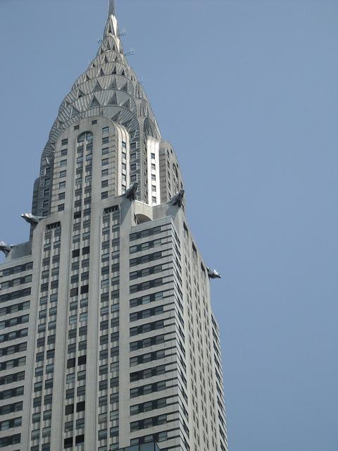 Chrysler building new york city big apple.